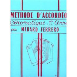 Méthode d'accordéon chromatique - 1ère année (bleu)