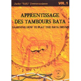 Apprentissage des tambours Bata +2CD - Volume 1