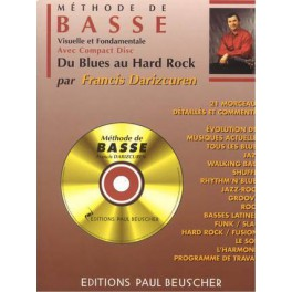 Méthode de basse + CD - Du Blues au Hard rock