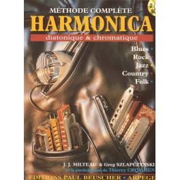 Méthode complète d'harmonica + CD - diatonique & chromatique