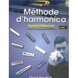 Méthode d'harmonica sp. déb. + CD - volume 1 - David Herzhaft