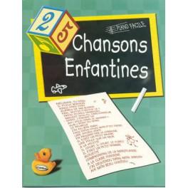 25 chansons enfantines - Piano facile