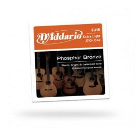 jeu de cordes extra-light pour guitare acoustique folk