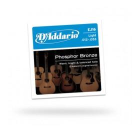 jeu de cordes light pour guitare acoustique folk