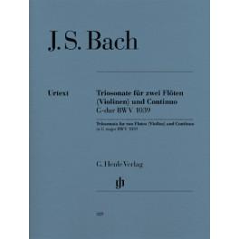 Sonate en trios pour deux flûtes et basse continue en sol majeur