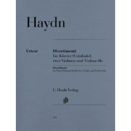 Divertimenti pour piano (clavecin) avec deux violons