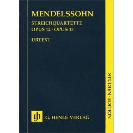 Quatuors à cordes op. 12 et 13