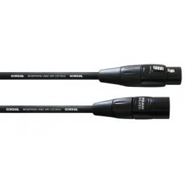 Cable XLR Male-XLR Femelle 1.5 mètres