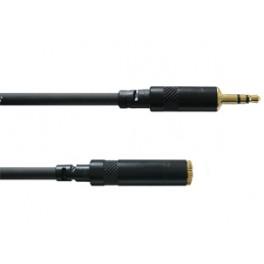 Cable mini-jack male stéréo sur mini-Jack femelle stéréo 3 mètres