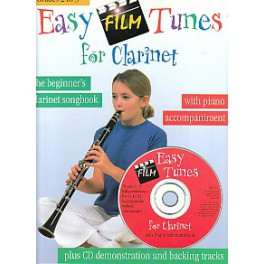 Easy film tunes for clarinet et CD