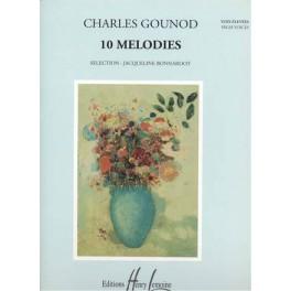Gounod Charles - 10 mélodies pour voix élevées