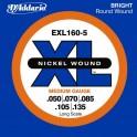 Jeu  pour basse électrique 5 cordes D'Addario EXL160-5