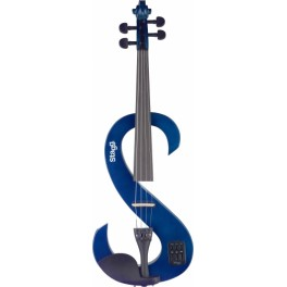 Violon électrique 4/4 Transparent Blue