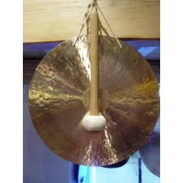 Gong feuille 60 cm avec batte
