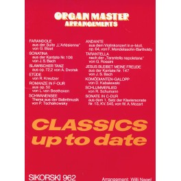 Organ Master Arrangements Classics up to date