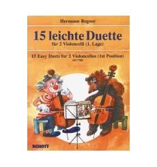 15 Leichte duette pour 2 violoncelles