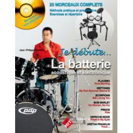 Je débute la batterie acoustique et électronique + CD - Jean-Philippe Fanfant