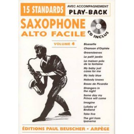Saxophone alto facile + CD - Volume 4
