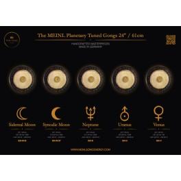 """Gong planétaire Lune synodique 210.42 Hz 24""""/61cm"""