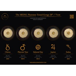 "Gong planétaire Chiron 172.86 Hz 28""/71cm"