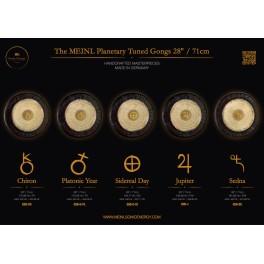 """Gong planétaire année platonique 172.06 Hz 28""""/71cm"""