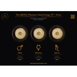"Gong planétaire Sedna 181.60 Hz 28""/71cm"
