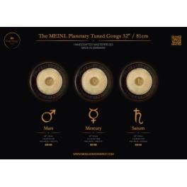 """Gong planétaire Saturne 147.85 Hz 32""""/81cm"""