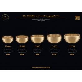 Set bols chantants de 4 pièces U400, U500, U600, C-250