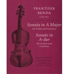 Benda - Sonate en La majeur pour violon et continuo