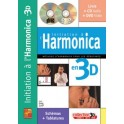 Initiation à l'harmonica en 3D + CD + DVD