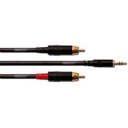 CORDIAL câble Y 1.5 mètres MiniJack - 2x RCA