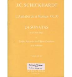 Alphabet de la musique op.30 vol 4 24 Sonates