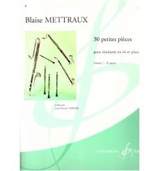30 Petites pièces pour clarnette et piano vol.1