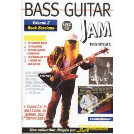 Bass guitar jam + CD - Volume 2 Rock sessions